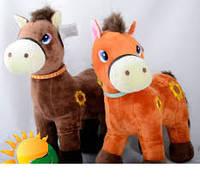 Мягкая игрушка Лошадь №98553,подарки для детей,пушистая,качественная, лучший подарок для малышей