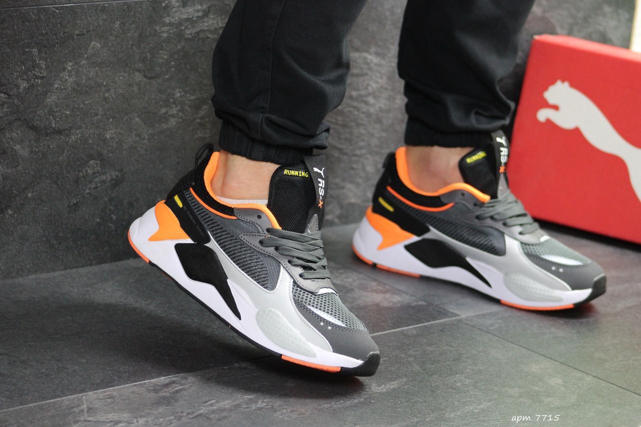 Мужские кроссовки Puma RS Running System,серые с черным 44р