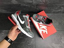Мужские весенние кроссовки Nike,серые с красным 46р, фото 3
