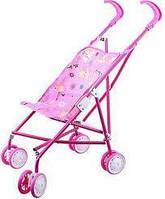 Детская коляска трость розовая для девочек