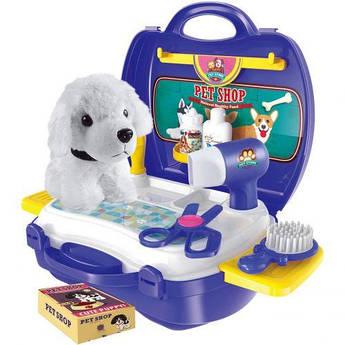 """Игровой набор """"Парикмахерская для животных"""" в чемоданчике"""