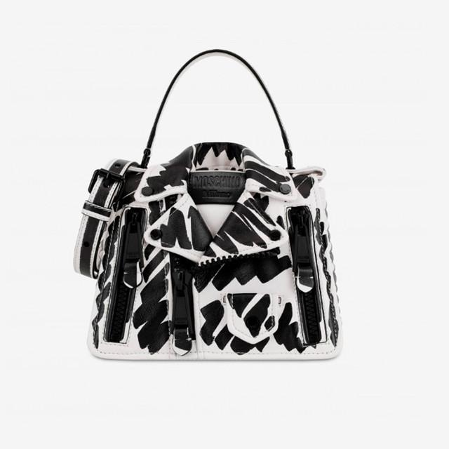 Женская байкерская сумочка от Moschino   вид спереди
