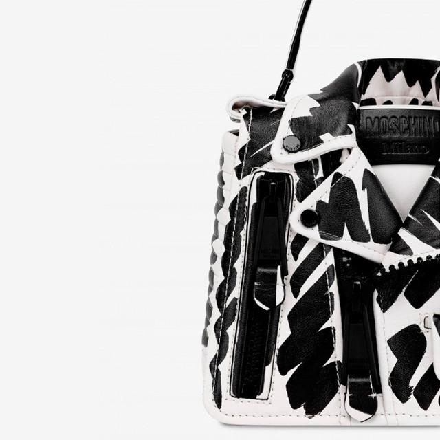 Женская байкерская сумочка от Moschino | вид спереди