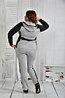 Спортивный костюм женский молодежный серый большого размера 42-74. 0408-3, фото 4