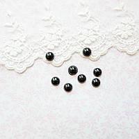 Глазки-Полубусины для Кукол Пластиковые пара Круглые 7 мм