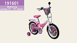 "Велосипед 2-х колес. 16"", СОБРАН НА 75%, со звонком, зеркалом, руч.тормоз"