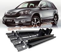 Боковые площадки (2 шт., алюминий) на Honda CRV 2007-2011 гг