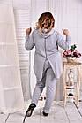 Сірий спортивний костюм з двухнитки великого розміру 0567-1, фото 4