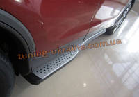 Оригинальные пороги V1 (2 шт, алюминий) на Honda CRV 2012-2015 гг.