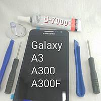 Дисплей модуль экран Samsung Galaxy A3, A300F, A300FU, фото 1