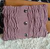 Подушка декоративная вязаная ручной работы