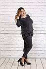 Стильный и практичный темно-серый костюм  большого размера   0738-2, фото 3