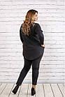 Стильный и практичный темно-серый костюм  большого размера   0738-2, фото 4