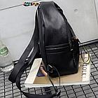 Рюкзак женский чёрный PU с надписями Love, фото 7