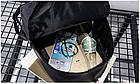 Рюкзак женский чёрный PU с надписями Love, фото 10