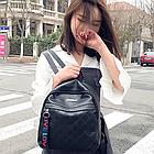 Рюкзак женский чёрный PU с надписями Love, фото 2