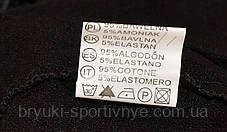 Брюки леггинсы женские с карманами в рябом цвете - хлопок, фото 2
