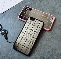 Чехол «Зеркало клетка» черный для айфон, фото 1