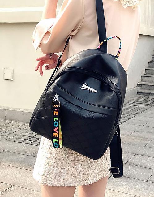 Рюкзак женский чёрный PU