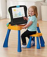 Детский развивающий сенсорный столик-мольберт со стульчиком, VTech США