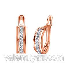 Серебряные серьги с позолотой СК3Ф/023