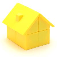 Головоломка Будинок YJ House 2x2x2 (ВайДжей Хаус 2х2х2), Жовтий