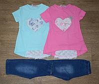 "Комплект футболка + бриджи для девочки на 98/104-104/110-110/116-116/122-122/128 ""Grace"" Венгрия"
