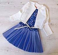 Детское платье+пиджак р.128-146 Бьянка