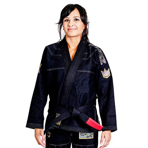 Женское кимоно для Джиу-Джитсу KINGZ Comp 450 V5 Черное