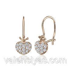 Серебряные серьги с фианитами С3Ф/361