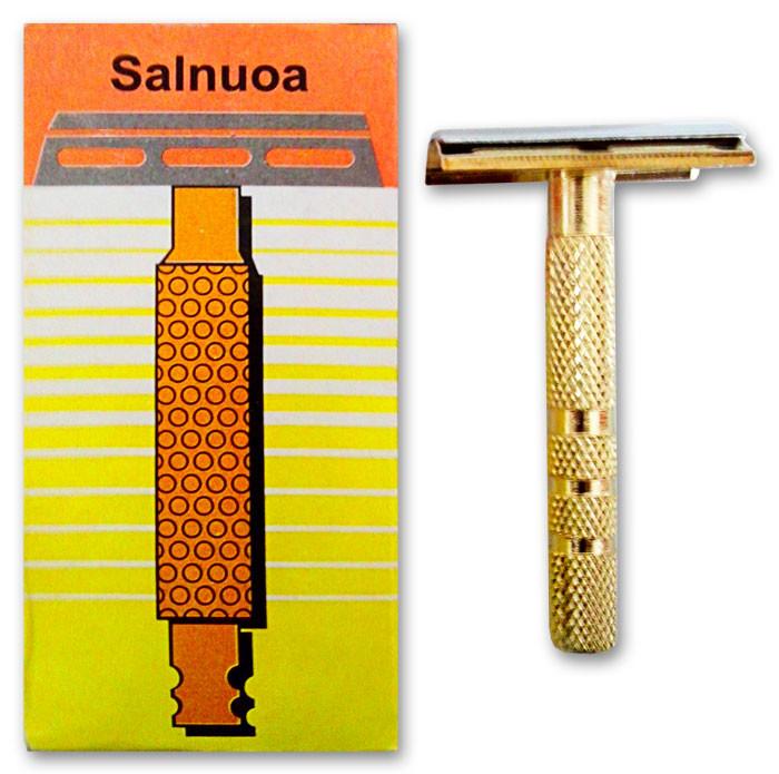 Станок для бритья металлический Salnuoa, станок F-7