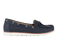 Мокасини туфлі жіночі без каблуку еко шкіра сині Inblu JR-1A