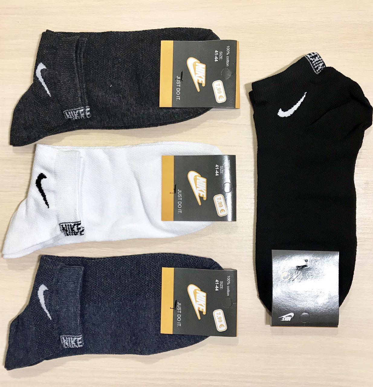 Носки мужские спортивные летние сетка хлопок короткие NikeТурция размер 41-45 ассорти