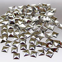 Металостразы термоклеевые.Цвет Серебро 9х9мм.Цена за 100шт