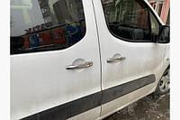 Хром накладки на ручки Citroen Berlingo 2 (Ситроен Берлинго) 08+ . Нерж.4 шт CARMOS