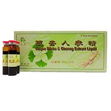 """Экстракт Гинкго Билоба """"Yin Xing Ren Shen Jing"""" (Ginkgo & Ginshen Extract) 10х10 мл"""