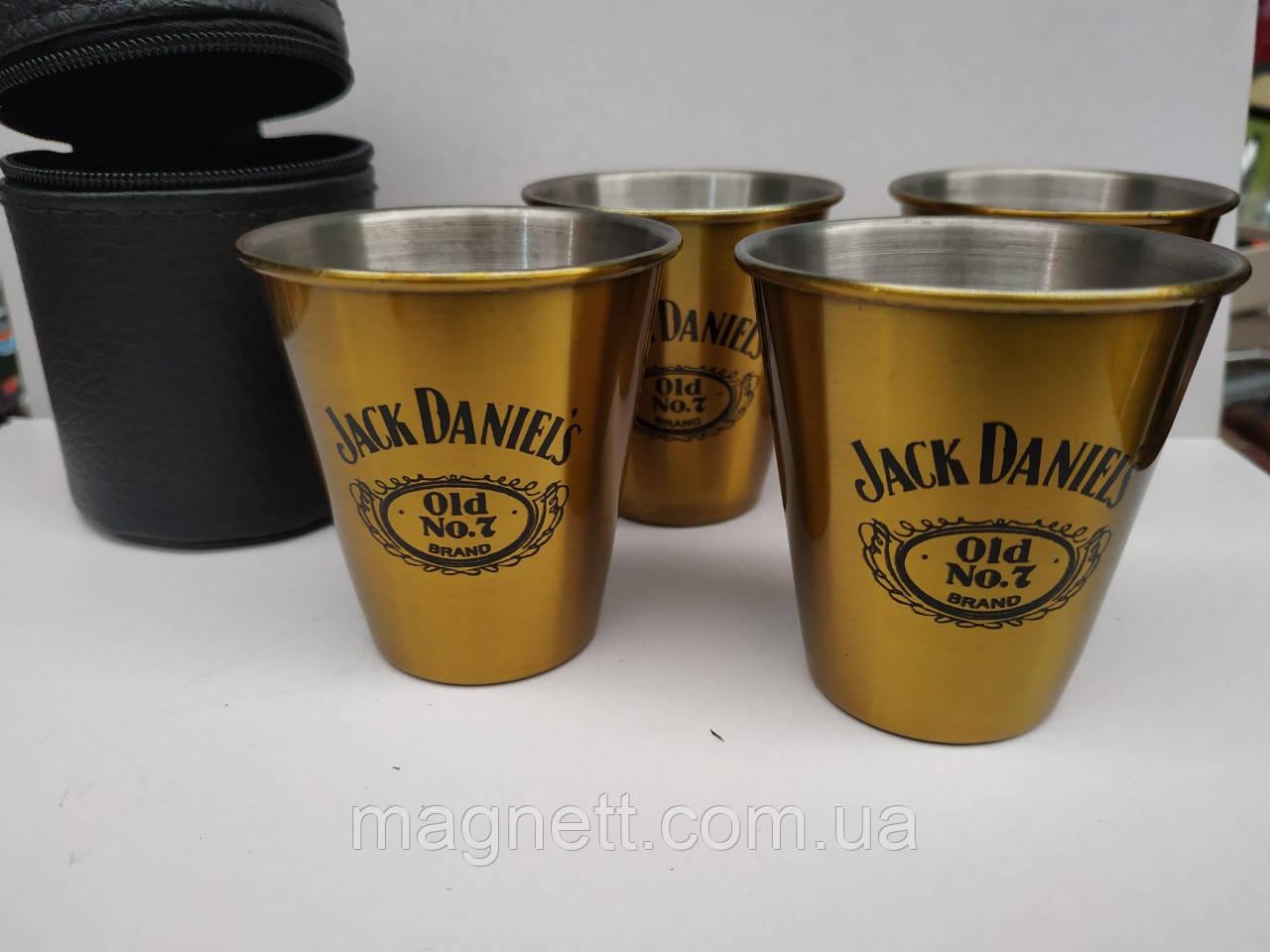 """Набор стопок 4 шт. мал.""""Jack Daniels"""""""