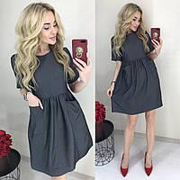 Женское легкое джинсовое платье (норма и батал)