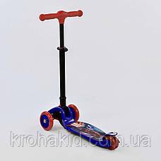 Самокат С 38300 Best Scooter СКЛАДНОЙ С ФАРОЙ, 4 колеса PU со светом, d=12 см, фото 2