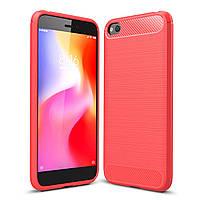 Чехол Carbon для Xiaomi Redmi Go бампер оригинальный Red
