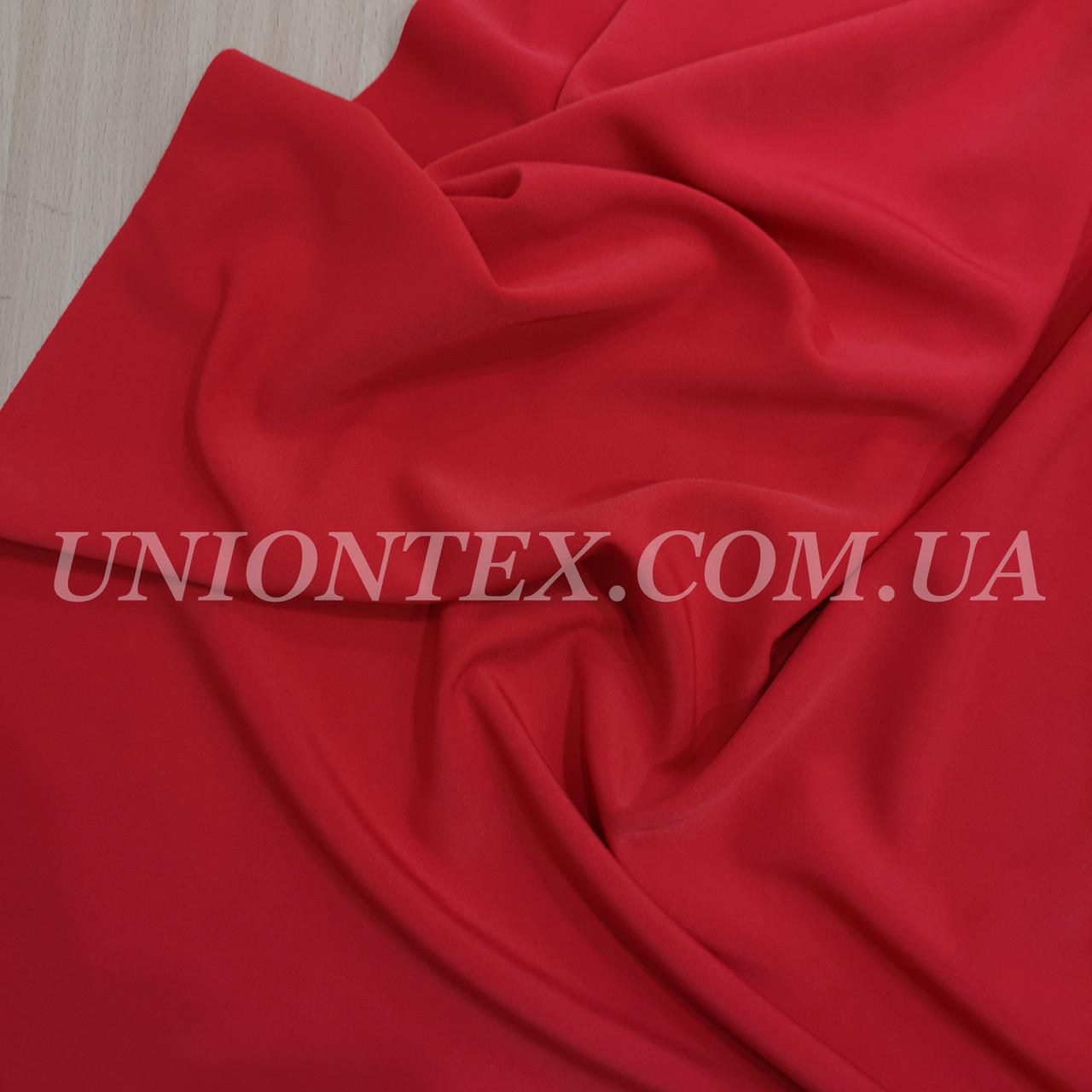 Костюмная ткань анжелика красная