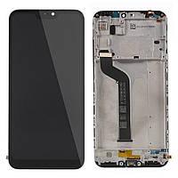 Дисплей (экран) для Xiaomi Mi A2 Lite сенсором (тачскрином) и рамкой черный с датчиком приближения приближения