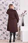 Коричневе пальто жіноче пряме великого розміру (різні версії) 42-74. Т0168-1, фото 5