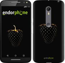"Чехол на Motorola Moto X Style Черная клубника ""3585c-455-851"""