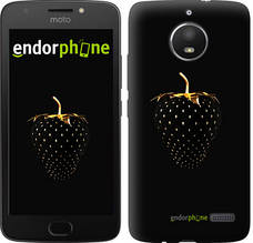 "Чехол на Motorola Moto E4 Черная клубника ""3585u-981-851"""