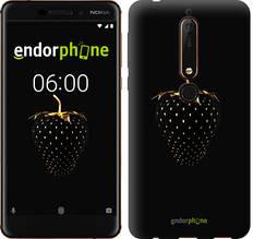 """Чехол на Nokia 6.1 Черная клубника """"3585c-1628-851"""""""