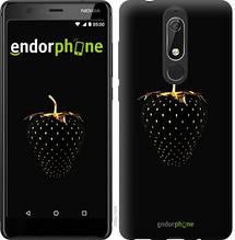 """Чехол на Nokia 5.1 Черная клубника """"3585u-1529-851"""""""