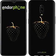 """Чехол на OnePlus 6T Черная клубника """"3585u-1587-851"""""""