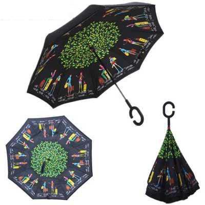 """Зонт обратного сложения """"Happy Girl"""""""
