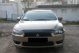 Дефлектор капота (мухобойка) Митсубиси Лансер (Mitsubishi Lancer) с 2007 г